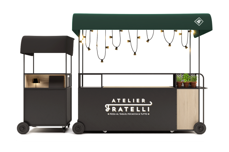Stand ambulant / chariot mobile - Visuel Fratelli