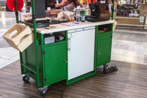 Stand mobile / Chariot ambulant - Visuel HopEat 4